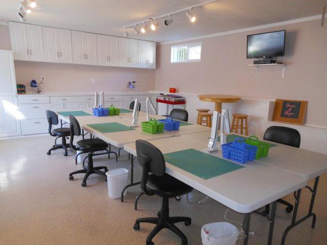 Big Bear Craft Cottage Craft Room Details